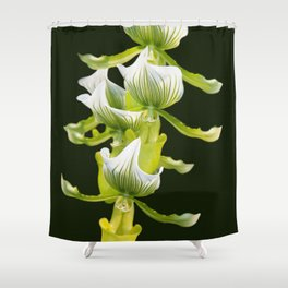 Green Orchid Shower Curtain