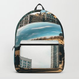 Architecture mirror art Backpack