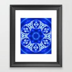 Blue Abstract Framed Art Print