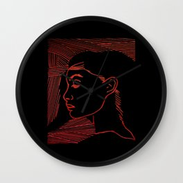 Red Girl Wall Clock