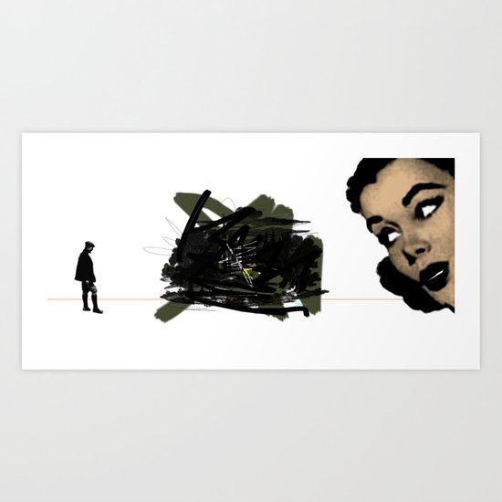 They had both seen the future. And it did not look bright. Art Print
