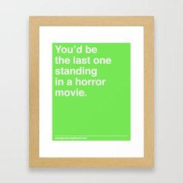 Last One Standing Framed Art Print
