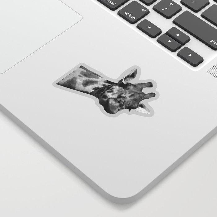 Black and white giraffe Sticker