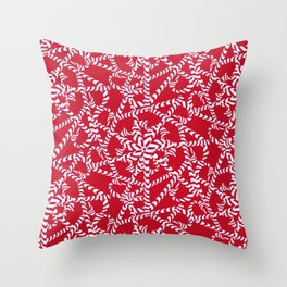 Candy cane flower pattern 2a Throw Pillow