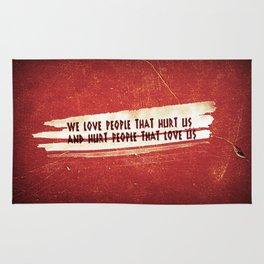 We Love / We Hurt Rug