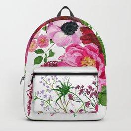 Burgundy bouquet Backpack