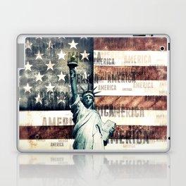 Vintage Patriotic American Liberty Laptop & iPad Skin