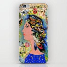 Joy Arrives on the Wings of Gratitude iPhone Skin