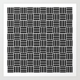 Cubes with lines Art Print
