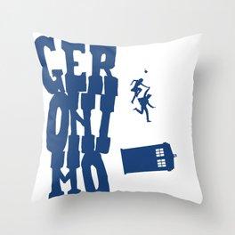 Geronimo Doctor Who Throw Pillow