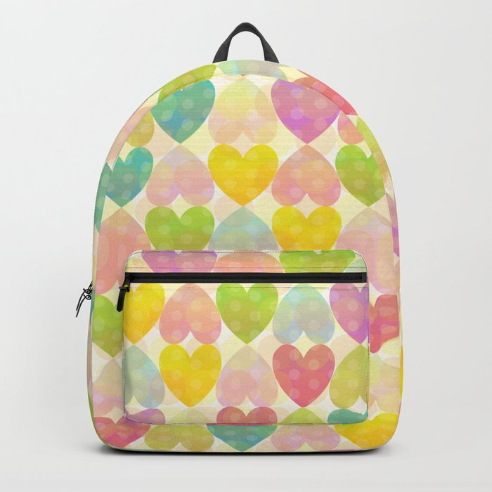 Colorful Sweet Candy Heart Pattern II Backpack
