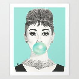 MS GOLIGHTLY Art Print