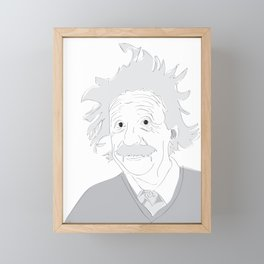 Albert Einstein Illustration Framed Mini Art Print