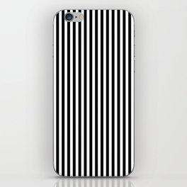 Black Stripes White Lines iPhone Skin