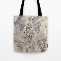 shells Tote Bags featuring Shells  by Laura Braisher