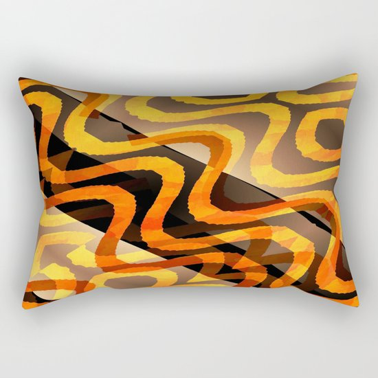 Shimmering Heat Rectangular Pillow