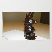 sea horse Area & Throw Rugs featuring Sea Horse by Lili Lash-Rosenberg