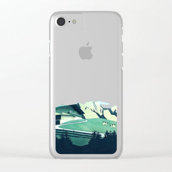 Alpine Hut Clear iPhone Case