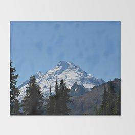 Snow Cap on the Mountain Throw Blanket