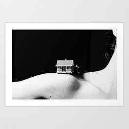 House on a Hill, II Art Print