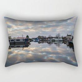 Dawn at West Stockwith Rectangular Pillow