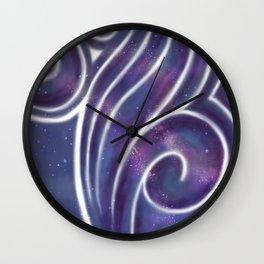 Painting On Stars Wall Clock