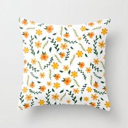 Sunny spring days Throw Pillow