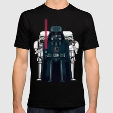 Darth Vader and Stormtroopers Mens Fitted Tee SMALL Black