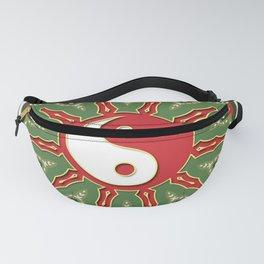 Red Yin Yang Sun Festive Mandala Fanny Pack