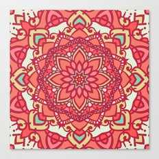 Abstract Mandala Flower Decoration 16 Canvas Print