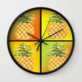 Tiled Pineapple Wall Clock