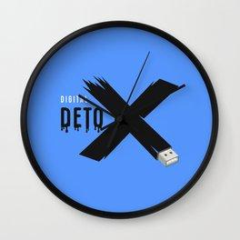 Digital detox letter x Wall Clock