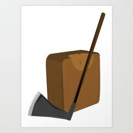 Blade and Block Art Print
