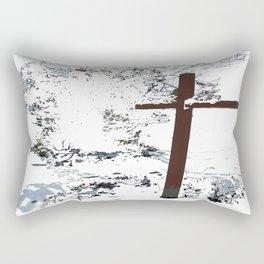 Cross in the Snow Rectangular Pillow
