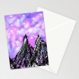 Mountain Luminous Stationery Cards