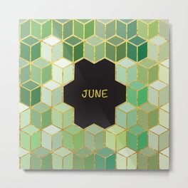 Cubes Of June Metal Print