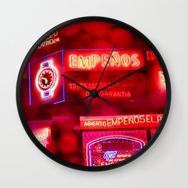 Red Neon Wall Clock