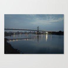 Triborough Bridge at Night. Canvas Print