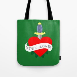 Red heart old school Tote Bag