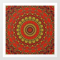 Mandala Fractal in Indian Summer 03 Art Print