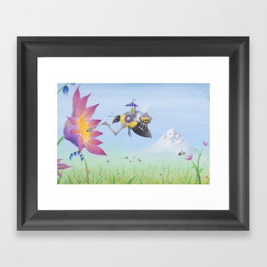 Sobaloopsian Nectarine Framed Art Print