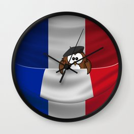 Frenchy owl Wall Clock