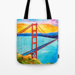 Golden Gate At Sunset Tote Bag
