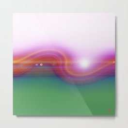 Waved Horizon Metal Print