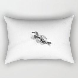 White and little black Rectangular Pillow
