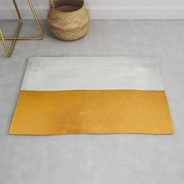 Wabi Sabi - Gold and Grey Texture Rug