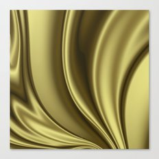 Abstract Fractal Colorways 02 Simple Gold Canvas Print