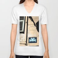 invader zim V-neck T-shirts featuring Invader by theGalary