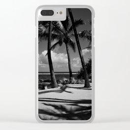 Kuau Beach Palm Trees Paia Maui Hawaii Clear iPhone Case
