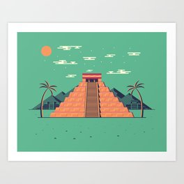 Cancun Life Art Print